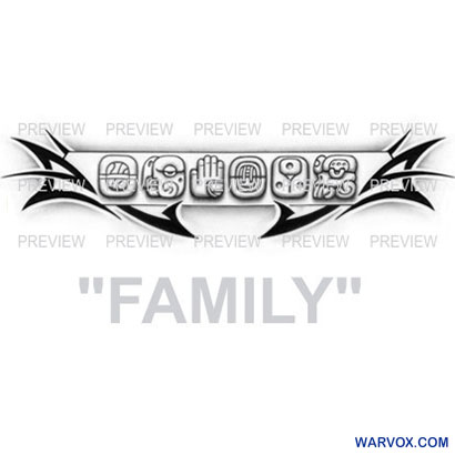FAMILY Mayan Glyphs Tattoo Design A