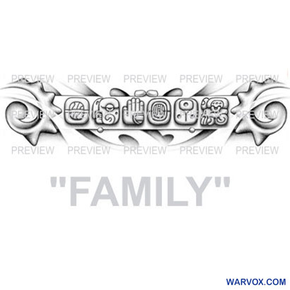 FAMILY Mayan Glyphs Tattoo Design D