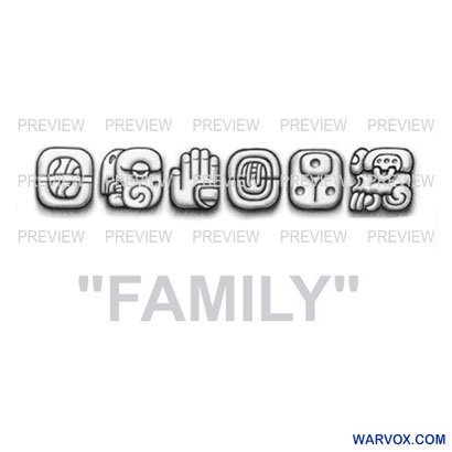 FAMILY Mayan Glyphs Tattoo Design G
