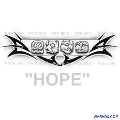 HOPE Mayan Glyphs Tattoo Design A