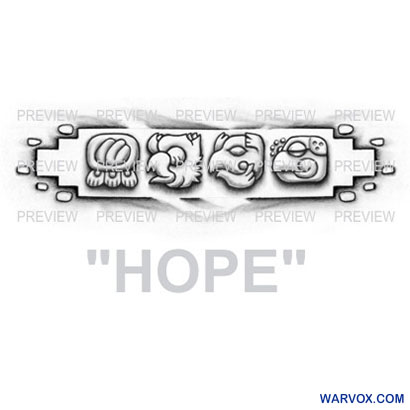 HOPE Mayan Glyphs Tattoo Design C