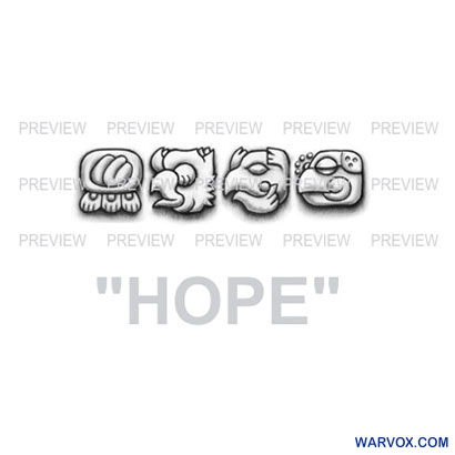 HOPE Mayan Glyphs Tattoo Design G